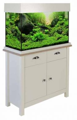 Aqua One Oakstyle 145 Shades Edition Aquarium and Cabinet Soft White